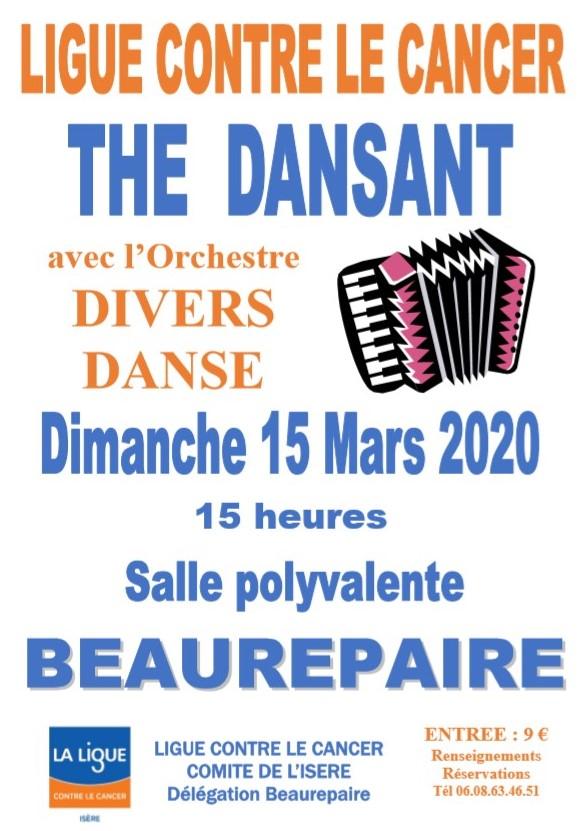 Thé dansant Beaurepaire 15 mars 2020