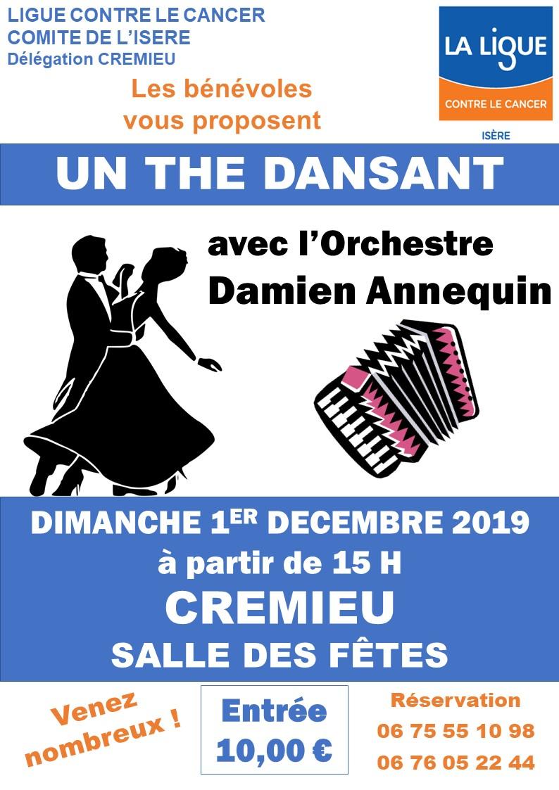 Thé Dansant Crémieu 1 décembre 2019