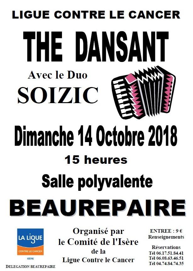 Thé dansant Beaurepaire 14 octobre 2018