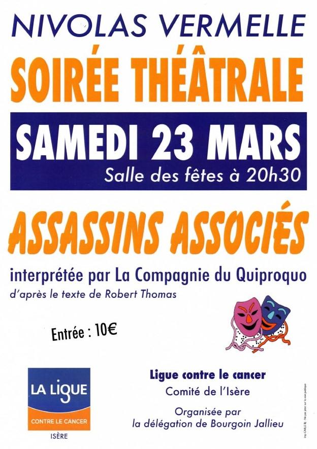 Théâtre Nivolas Vermelle 23 mars 2019