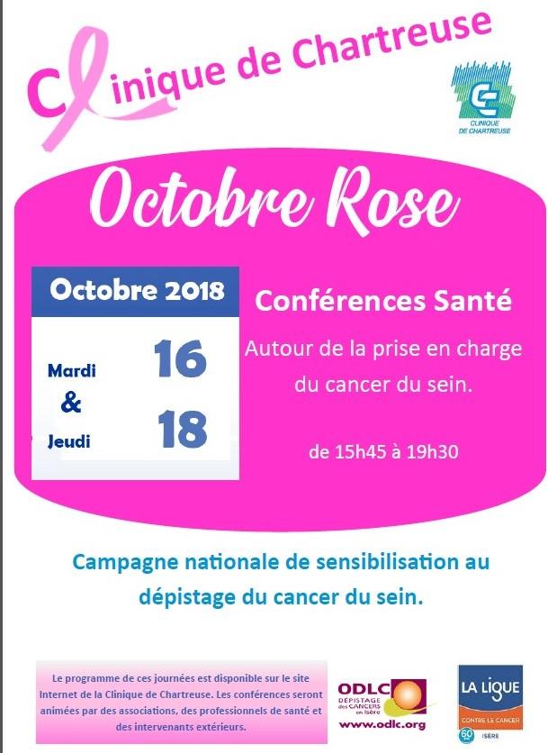Octobre Rose 2018 Clinique de Chartreuse Voiron